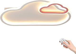 Plafonnier LED forme nuage blanc Lampe Plafond chambre d'enfants dessin animé Applique de chambre créative Dimmable via té...