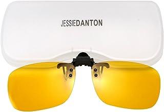 63cbb351c7e Polarized Clip-on Flip Up Metal Clip Rimless Sunglasses for Prescription  Glasses