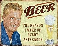 SUDISSKM ビールは私が毎日午後起きる原因だティンサイン