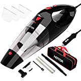 Car Vacuum Cleaner High Power, HOTOR Vacuum for Car, Best Corded Car Vacuum, Handheld Portable Auto Vacuum Cleaner Powered by 12V Outlet of Car – Black & Red