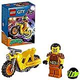 LEGO 60297 City Stuntz Power-Stuntbike, Set mit schwungradbetriebenem Motorrad und Rennfahrer-Wallop-Minifigur, Spielzeug für Kinder ab 5 Jahren