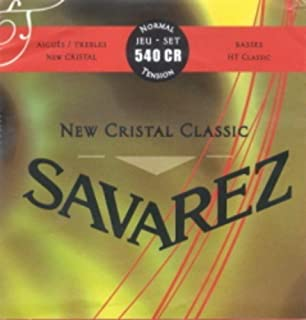 CUERDAS GUITARRA CLASICA - Savarez (540/CR) New Crystal Classic Roja (Juego