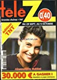 TELE Z [No 1568] du 24/09/2012 - ALESSANDRA SUBLET
