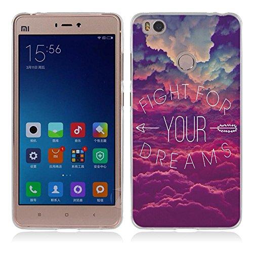 FUBAODA Funda para Xiaomi Mi4s Estilo Dicho Popular, Gel de Silicona TPU, Amortigua los Golpes, Funda Protectora para para Xiaomi Mi4s