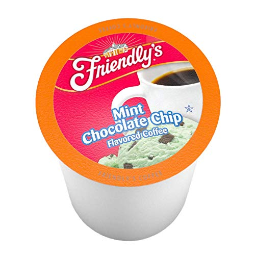 Friendlys Mint Chocolate Chip Flavored Coffee Pods for Keurig K-Cup Brewers, 12 Count