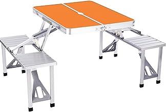 DX Folding Camping Table, Outdoor aluminium tafel en stoel geïntegreerd ontwerp, draagbaar met handvat ontwerp, met een pa...