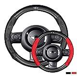 Coperchio del volante in pelle di fibra di carbonio Superfine, pelle ultra-sottile, traspirante e resistente, adatta per mini F60 F56 F55 F54 R52 Coopers Clubman Cabrio Countryman Versione copertura d