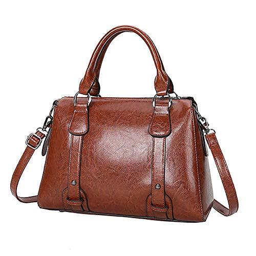 Teemzone donne Borse e Borse tote bag in pelle PU Top Handle Satchel moda Ladies lager spalla Messenger bag