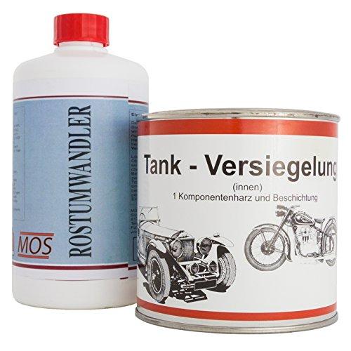 Original MOS Tankversiegelung & Rostumwandler im Set - bis 70 Liter Tankvolumen