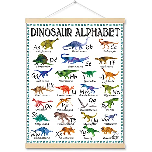 Dinosaur Alphabet Chart Hanger Painting Dinosaur Classroom Posters and Decorations Dinosaur Theme Educational Poster A to Z Dinosaur Names Alphabet Learning Chart for Preschool and Kindergarten