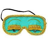 Mint Holly Golightly Sleeping Mask, Handmade Sleep Mask with Eyelashes, Breakfast at Tiffany's Eye Mask, Audrey Hepburn Night Mask, Breakfast at Tiffany's PJ Party, Slumber Party Supplies