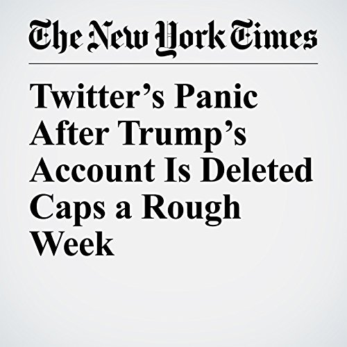 Twitter's Panic After Trump's Account Is Deleted Caps a Rough Week copertina