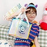CADANIA Handtasche, Frauen Transparente PVC Handtasche Lady Top Handle Casual Tote Einkaufstaschen Geldbörse