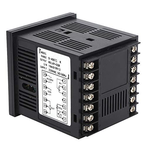 Controlador de temperatura digital, controlador de temperatura PID, relé de alto rendimiento AC220V + salida SSR múltiples señales para el uso de diferentes aplicaciones