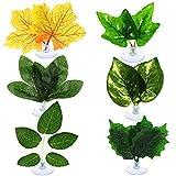 Juexica 6 Pieces Leaf Pad Betta Hammock