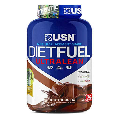 USN Diet Fuel Chocolate UltraLean 2 kg, Diet Protein Powders, Weight Control & Meal Replacement Shake Powder