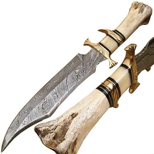 Knives - Custom Handmade 16 Inch knife - Hand Forged Damascus steel Knife - Knife With Sheath, Smnr-9871
