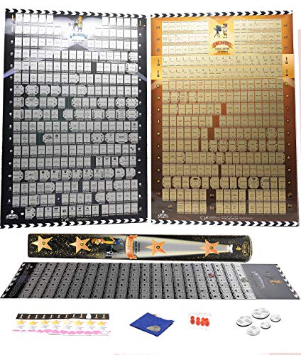 600 Movie scratch off Poster plus 100 movie poster BucketList of 2019  3 in 1 Pack 20 and 21 Century movie poster scratch off Cult Films Essential By Mymap