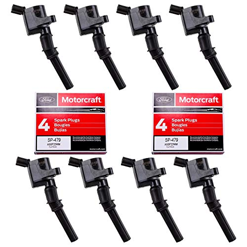MAS Ignition Coil DG508 & Motorcraft Spark Plug SP479 compatible with Ford...