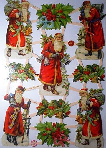 Glanzbilder Weihnachten Weihnachtsmann EF 7361 Oblate Posiebilder Scrapbook Deko GWI 476