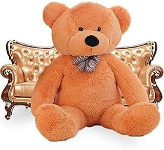 WOWMAX 4 Foot Light Brown Giant Teddy Bear Cuddly Stuffed Plush Animals Teddy Bear Toy Doll 47