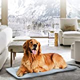 Pet Heating Pad for Cats Dogs,45 x 70cm Soft Electric Blanket Auto Temperature Control Waterproof Indoor,Animal Bed Warmer House Heater Heated Floor Mat,Whelping Supply for Pregnant New Born Pet