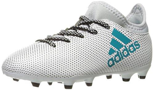adidas Boy's X 17.3 FG J Soccer Shoe, White/Energy Blue/Clear Grey,...