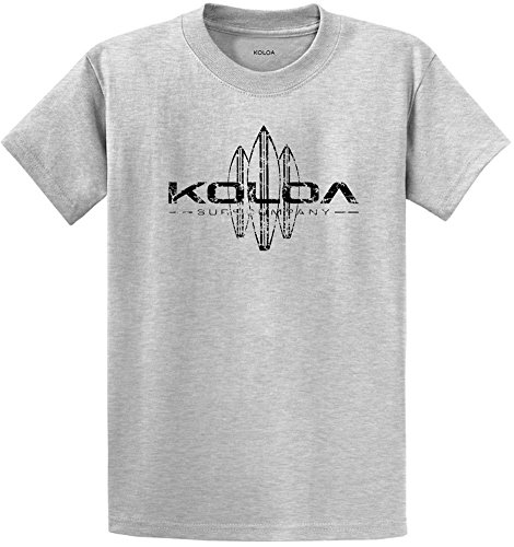 Koloa Surf Vintage Surfboard Logo Heavyweight Cotton T-Shirt-Ash/b-3XL