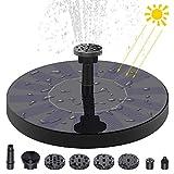 Cypin Solar Springbrunnen Solar Teichpumpe mit 1.5W Solar Teichpumpe Eingebaute Wasserpumpe Solar Schwimmender Fontäne Pumpe mit 6 Fontänenstile für Garten, Vogel-Bad,Teich,Fisch-Behälter