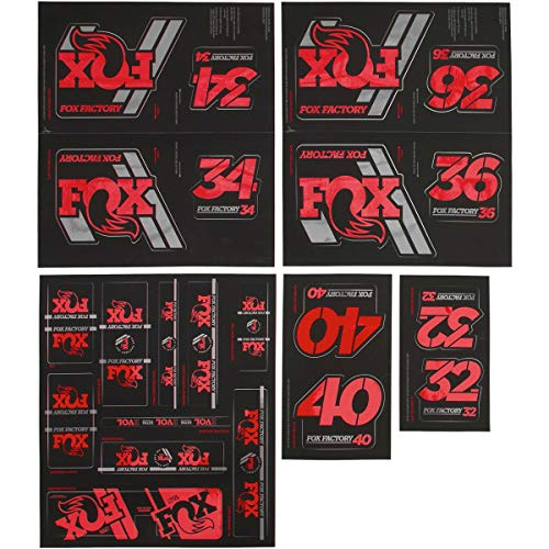 Fox Racing Shox Heritage Fork and Shock Decal Kit Red, One Size