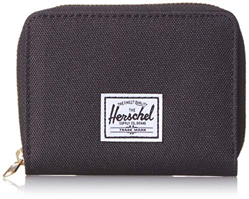 Herschel unisex adult Tyler Rfid Zip Wallet, Black, One Size US