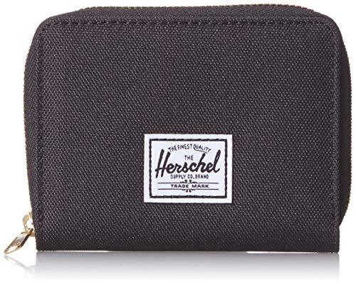 Herschel Unisex-Erwachsene Tyler RFID Geldbörse mit Reißverschluss, schwarz, Einheitsgröße