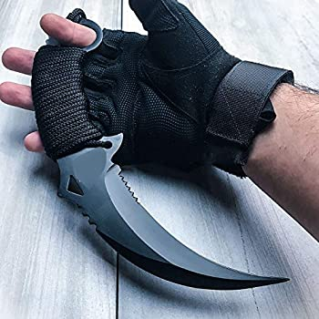 KCHEX 10  Tactical Combat KARAMBIT Knife Survival Hunting Bowie Fixed Blade