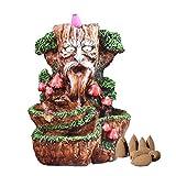 S/J Soporte de incienso Backflow con forma de árbol de Dios, cascada, quemador de incienso, creativo, resina, aromaterapia, decoración para el hogar y la oficina
