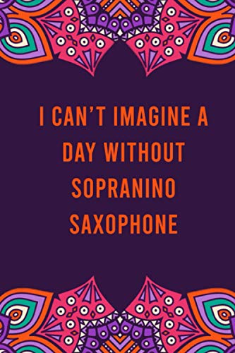 I can't imagine a day without sopranino saxophone: funny notebook for women men, cute journal for writing, appreciation birthday christmas gift for sopranino saxophone lovers