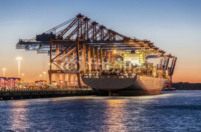 Impresión de DRUCK-SHOP24Deseos Diseo  Hamburg Container Puerto   105516602–Imagen Sobre Lienzo, Foto de Póster, Placa de Aluminio Dibond, Cristal acrílico, Forex, Adhesive de Pantalla