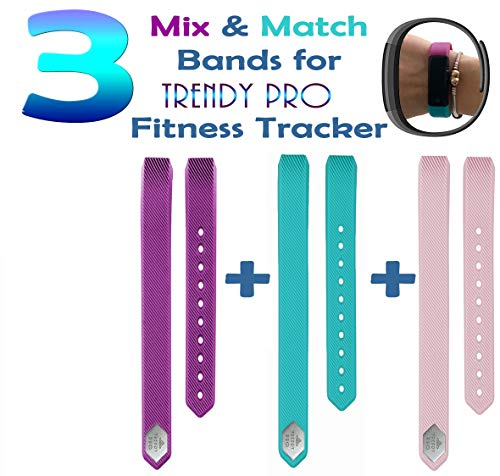 Trendy Pro Fitness Tracker con 2 correas para Android e iOS 2