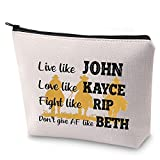 ZJXHPO Yellowstone TV Show Inspire Gift Live Like John Don't Give AF Like Beth Makeup Bag Yellowstone Fans Gift (John Kayce)
