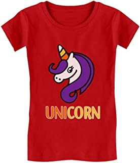 Cute Halloween Candy Corn Unicorn Infant Girls' Fitted T-Shirt