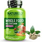 NATURELO Whole Food Multivitamin for Women 50+ (Iron Free) Natural Vitamins, Mineracls, Raw Organi Extracts - Supplement for Post Menopausal Women Over 50 - No GMO - 120 Vegan Capsules
