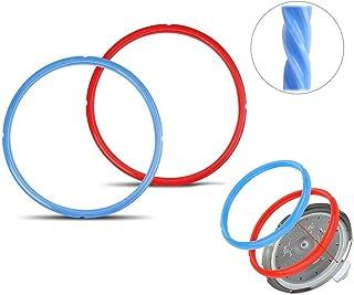 Xstar Sellador de silicona para reemplazo de ollas de presión eléctricas de olla instantánea 5 / 6L (2 piezas, rojo / azul)