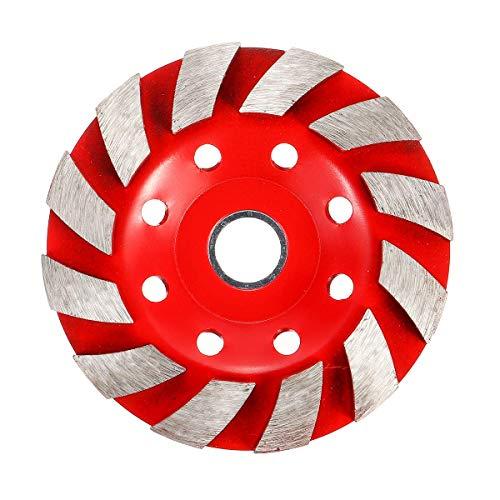 KANJJ-YU 100 mm Segmento Disco diamantado Esmerilado Rueda de hormigón de mampostería de Piedra de mármol de Lijado Rueda roja Herramientas