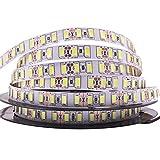 SUNXK Súper Brillante 120leds / m SMD 5730 Tira de led 5630 Luz Flexible 5M 600 LED Cinta DC 12V no Impermeable Led Ribbon...