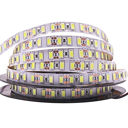 SUNXK Súper Brillante 120leds / m SMD 5730 Tira de led 5630 Luz Flexible 5M 600 LED Cinta DC 12V no Impermeable Led Ribbon Lámpara de Navidad (Color : 120Led, Emitting Color : Warm White)