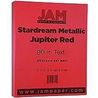 """Jam用紙メタリック用紙–8.5"""" X 11""""–Stardreamメタリック 25/pack"""