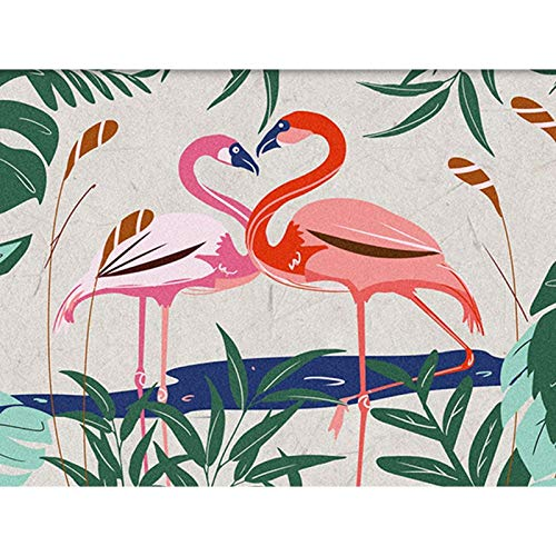 5D Full Round Drill Diamond Painting Kit, DIY Diamond Rhinestone Painting Kits for Adults Embroidery Arts Home Decor Flamingo Couple 15.7x11.8 in By Bemaystar