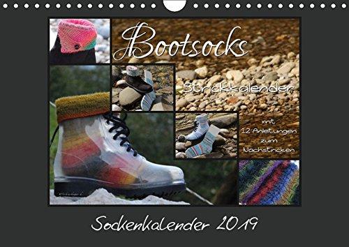 Sockenkalender Bootsocks 2019 (Wandkalender 2019 DIN A4 quer): Strickkalender mit 12 Anleitungen für Bootsocks (Monatskalender, 14 Seiten ) (CALVENDO Hobbys)
