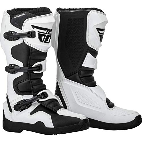FLY Racing Maverik Boots for Motocross, Off-road, and ATV riding (SZ 10,WHITE/BLACK)