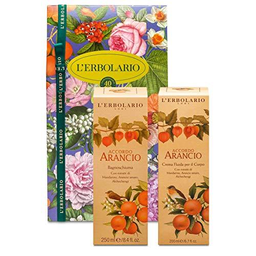 L'Erbolario Confezione regalo Duo Corpo – Linea Accordo Arancio – Bagnoschiuma 250 ml e Crema Corpo 200 ml