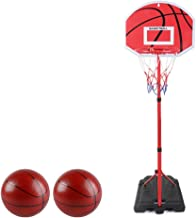 Basketball Hoop and Stand for Kids, Child Basketball Set Back Board Stand Net, Height Adjustable, with Ball and Pump, for ...